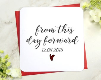 from this day forward wedding day husband wife bride groom greeting card