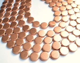 The Charlotte- Copper Wood Statement Necklace