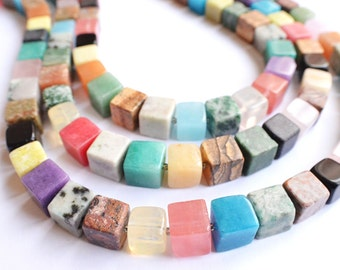 The Cubist- Multi Gemstone Statement Necklace