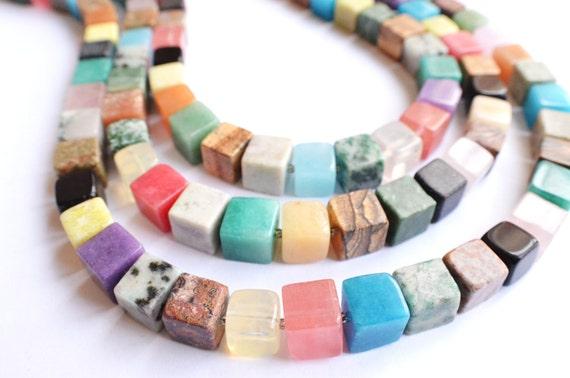 The Cubist- Multi Gemstone Statement Necklace