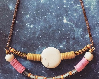 Full Moon / African Bead / Necklace