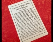 WWI SORROWS PAMPHLET Antique Chaplet or Beads of the Seven Dolours Sorrows Instructions New York