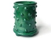 Succulent Planter Pot with Feet - Green Bumpy Pot