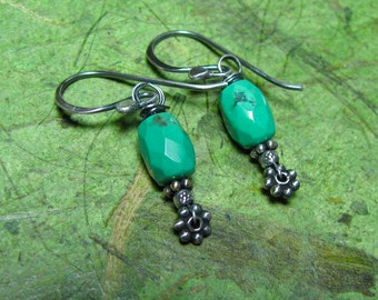Trinket - Turquoise and Sterling Silver Earrings
