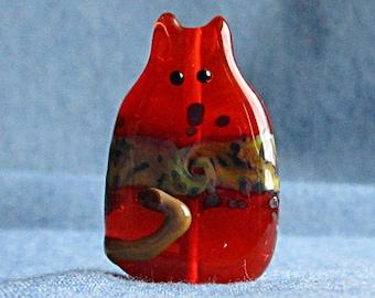 Cat Bead Handmade Lampwork Focal - Martino FatCat