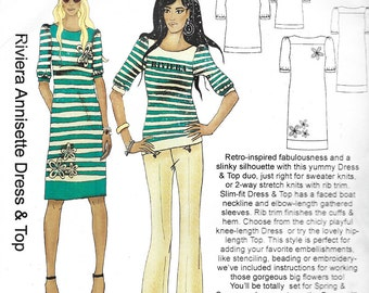 Hot Patterns 1021 - Riviera ANNISETTE DRESS and TOP  - Sewing Pattern - Multi-Size - Uncut