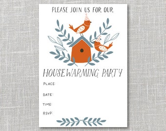 Housewarming Party Invitation Printable Instant Download PDF