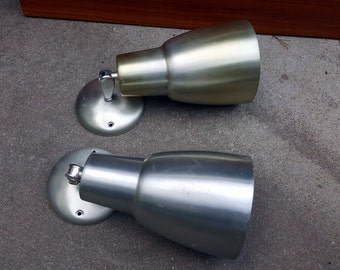 Pair of Mid Century Modern Light Fixtures Wall Sconces