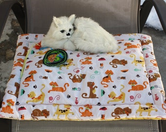 Cat Mat, Cat Bed, CatBed With Toy, Catnip Mat, Cat Accessories, Travel Cat Mat, Crate Mat, Cat Mat With Toy, Cat Pad, Luxury Cat Bed, Catnip