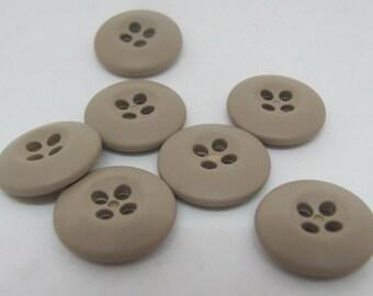 7 Tan Buttons 12OP