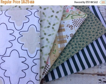 SALE- Fat Quarter Bundle-Reclaimed Bed Linens -In the Forest