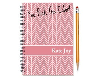 2016 2017 2018 2 Year Planner, Personalized 24 Month Monthly Calendar Notebook, Start Any Month, Add Your Name, SKU: 2yr chevron