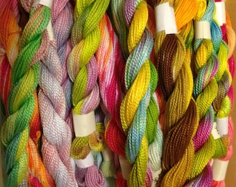 Hand Dyed Embroidery Perle Cotton Grab Bag - 1 skein