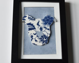 Recycled China Cut Out - Pit Bull