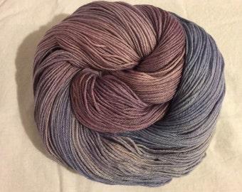 Handdyed Merino and Silk Sock Yarn AMETHYSTE