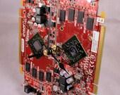 Computer Circuit Board Desk Clock (RED)