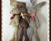 Knit Bunny Rabbit Toy NeWBoRN BaBY PHoTO PRoP Floppy Ear Bunny SHaBBY CHiC SoFT ToY Kid Small Heirloom STuFFeD ANiMaL Beige Brown Grey Tweed