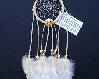 Ivory Dream Catcher, Turkey Flat Feathers