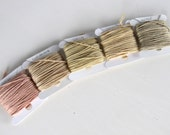 Natural Plant Dyed Pastel Embroidery Thread Pack