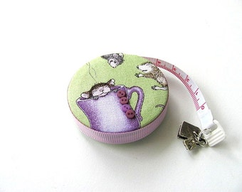 Measuring Tape with Mice and Mugs Retractable Tape Measure