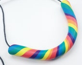 Chunky Necklace in Rainbow Colours