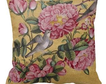 Pillow , Camellias Pillow, Camellias Throw Pillow, FLoral Art Pillow, Living Room Decor, Bedroom 16x16 20x20