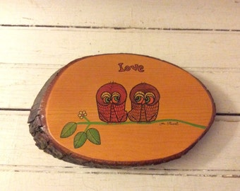 Vintage Owls Wall Hanging
