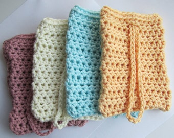 Cotton Soap Saver, Soap Sock // Many Colors to choose from // Perfect Stocking Stuffer