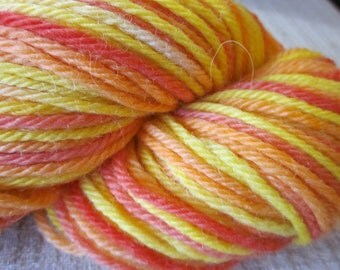 Handpainted Baby Alpaca Yarn (Fruit Salad) 100 yds 91.4 grams