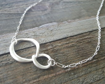 Infinity Necklace, Infinity Sterling Silver Necklace