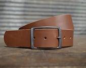 Premium Brown Leather Belt by FosterWeld