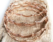 MerWave Bangle 12gauge Rose Gold