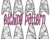 Digital Pattern for Etching fishnet floral Drop Earrings Download 123 fishnet floral 2
