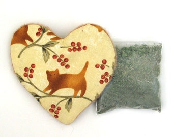 Catnip Valentine Heart Toy with Catnip Refillable Cat Berries