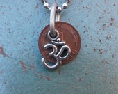 Om and Pfennig Upcycled Necklace