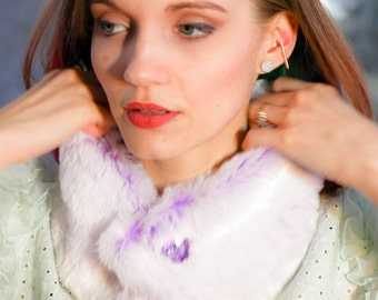 Lavender Faux Fur Collar