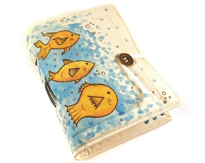 Goldfish, Handmade journal, painted notebook