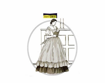 Civil War Blouse Pinafore Skirt Butterick 4761 Sewing Pattern Size 16 - 18 - 20 - 22 Bust 38 - 40 - 42 - 44 Uncut