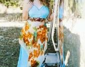 Rubypearl Turquoise Jungle Maxi Slip Dress