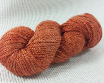 NEW Hand Dyed Mini Skein Merino Silk Fingering Weight 1 ounce 122 yards - Spiced Pumpkin Semi Solid get in on mini skein madness!