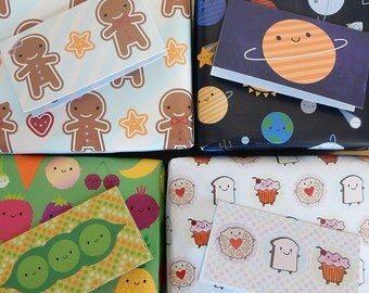 Pick & Mix Folded Gift Tags - Choose any 10 from 4 Kawaii Designs