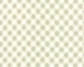"""22"""" piece/remnant - Vintage Picnic - Check in Gray: sku 55124-15 cotton quilting fabric by Bonnie and Camille for Moda Fabrics"""