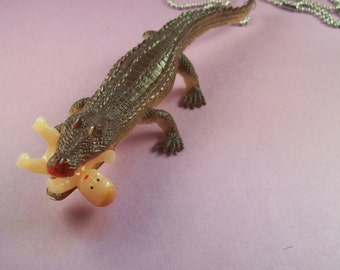 Alligator Eating a Baby Necklace