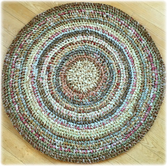 Amish Knot Rag Rug A.k.a. Toothbrush Rug Country Cottage