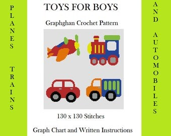 Toys for Boys - Graphghan Crochet Pattern