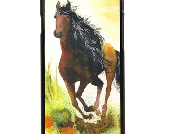 """Phone Case """"Graceful Thunder"""" - Watercolor Art Print Horse Painting Wild Free Running Girl's Pony Mare By Olga Cuttell"""