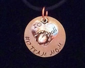 Sports Disk Necklaces, Football, Running, Basketball, Gold, Soccer, with Personalized Stamping, Team Mom, Sport Jewelry, Hand Stamped Disks