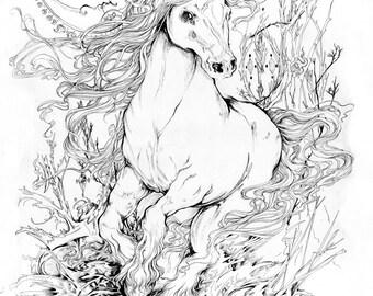 Heavy Horse / Fantasy Painting Art Print