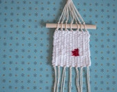 Mini Menses | One of a Kind Handmade Weaving by Jackie Dives