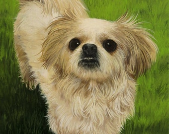 Custom Pet Painting 6x8 Your Dog Cat or Horse Any Animal